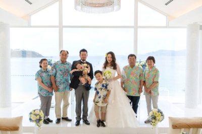 沖縄結婚式 名護市マリンビジュー かりゆしウエディング