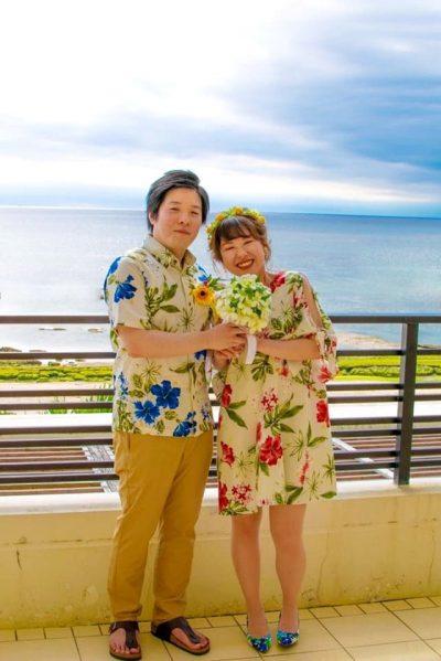 沖縄結婚式 特別感 かりゆしウエディング