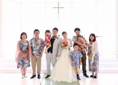 沖縄結婚式 ラソールガーデンアリビラ かりゆしウエディング