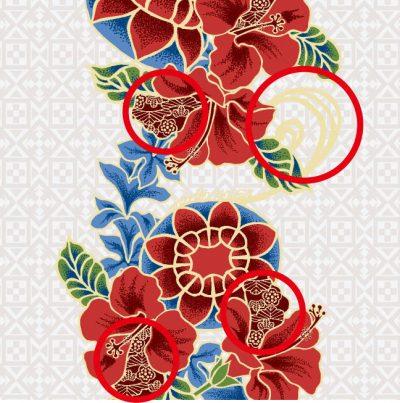 紅型花笠ボーダー