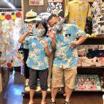 リピーターさんがご来店♪自作マスクとお揃いの沖縄アロハシャツ
