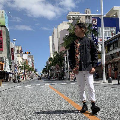 長袖 沖縄アロハシャツ コーデ