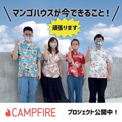 キャンプファイヤー、プロジェクト公開中!(クラウドファンディング)