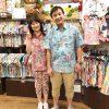 神奈川のリピーターさんが再来店!!沖縄アロハシャツでお揃いコーディネート♪